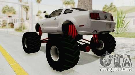 Ford Mustang 2005 Monster Truck para GTA San Andreas left