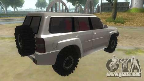 Nissan Patrol Y61 para la visión correcta GTA San Andreas