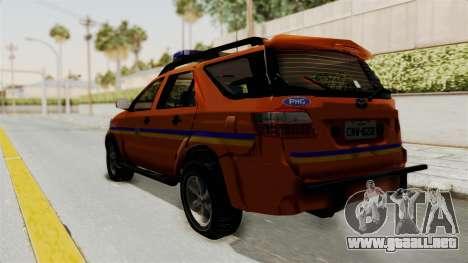 Toyota Fortuner JPJ Orange para GTA San Andreas left