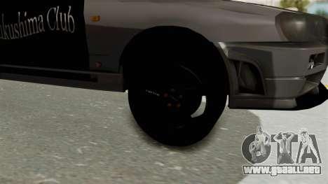 Nissan Skyline ER34 para GTA San Andreas vista hacia atrás