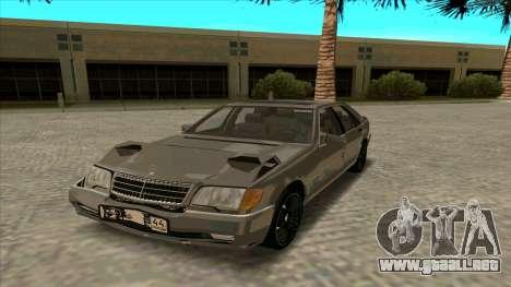 Mercedez-Benz W140 para GTA San Andreas vista hacia atrás