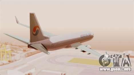 Boeing 737-800 Korean Air para la visión correcta GTA San Andreas