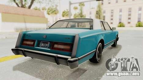 GTA 5 Dundreary Virgo Classic Custom v3 para GTA San Andreas left