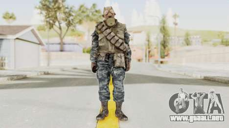 COD BO Russian Spetznas Flak MP v4 para GTA San Andreas segunda pantalla