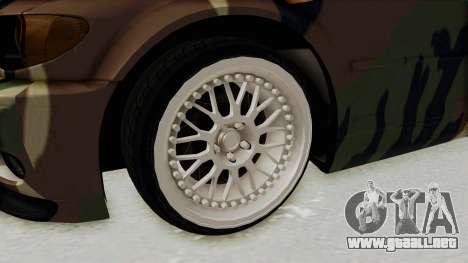 BMW 3 Series E46 para GTA San Andreas vista hacia atrás