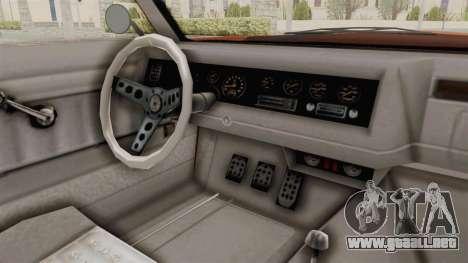 GTA 5 Declasse Sabre GT2 B para visión interna GTA San Andreas