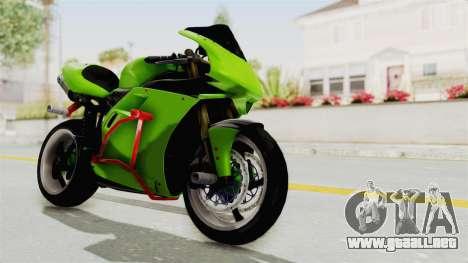 Ducati 998R Modif Stunt para la visión correcta GTA San Andreas