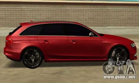 Audi S4 Avant para GTA San Andreas vista posterior izquierda