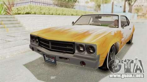 GTA 5 Declasse Sabre GT2 B para vista lateral GTA San Andreas