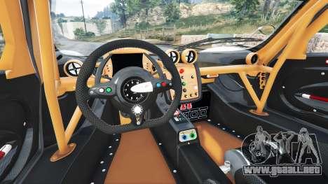 GTA 5 Pagani Zonda R v1.1 vista lateral trasera derecha