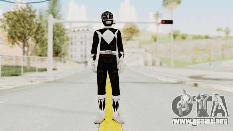 Mighty Morphin Power Rangers - Black para GTA San Andreas segunda pantalla
