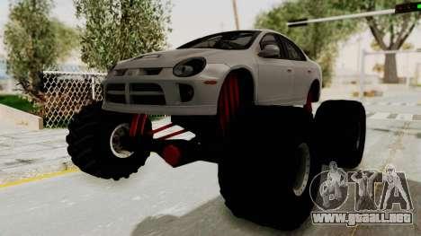 Dodge Neon Monster Truck para GTA San Andreas vista posterior izquierda