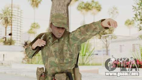 MGSV Ground Zeroes US Soldier Armed v1 para GTA San Andreas