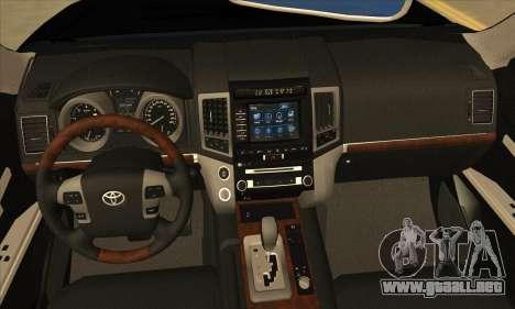 Toyota Land-Cruiser 200 para visión interna GTA San Andreas