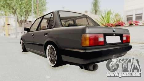 BMW M3 E30 para GTA San Andreas vista posterior izquierda