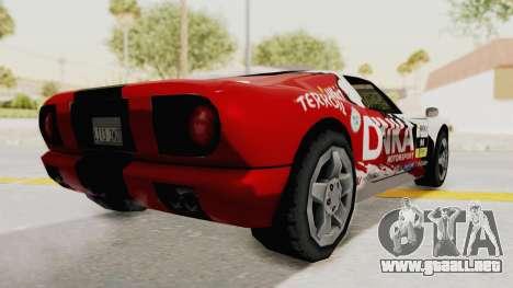 DiNka Bullet para GTA San Andreas vista posterior izquierda