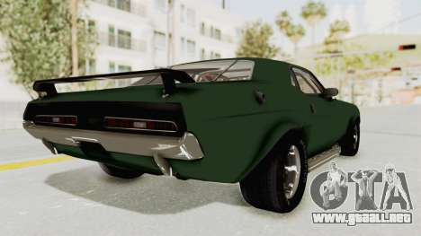 Dodge Challenger 1971 para GTA San Andreas left