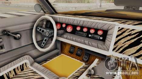 GTA 5 Declasse Sabre GT2 B IVF para vista lateral GTA San Andreas