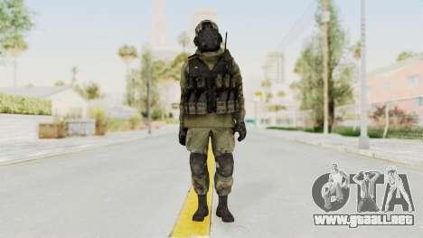 Advanced Warfare North Korean Assault Soldier para GTA San Andreas segunda pantalla