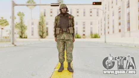 MGSV Ground Zeroes US Pilot v1 para GTA San Andreas segunda pantalla