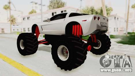 Chevrolet Corvette C6 Monster Truck para GTA San Andreas left