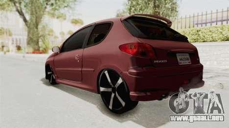 Peugeot 206 Full para GTA San Andreas left