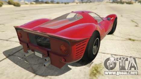 GTA 5 Ferrari 330 P4 1967 vista lateral izquierda trasera
