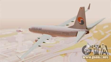 Boeing 737-800 Korean Air para GTA San Andreas left