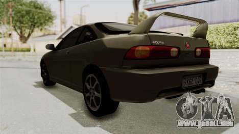 Acura Integra Fast N Furious para GTA San Andreas vista posterior izquierda
