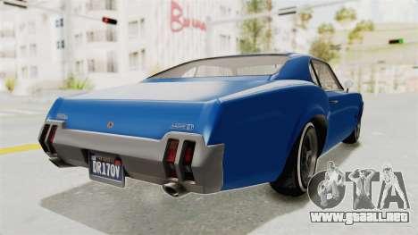 GTA 5 Declasse Sabre GT2 A para la visión correcta GTA San Andreas