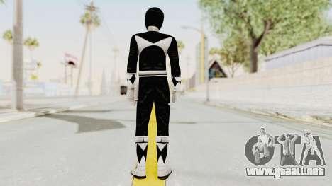 Mighty Morphin Power Rangers - Black para GTA San Andreas tercera pantalla