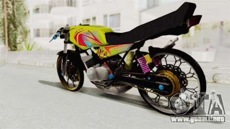 Yamaha RX King 200 CC Killing Ninja para la visión correcta GTA San Andreas