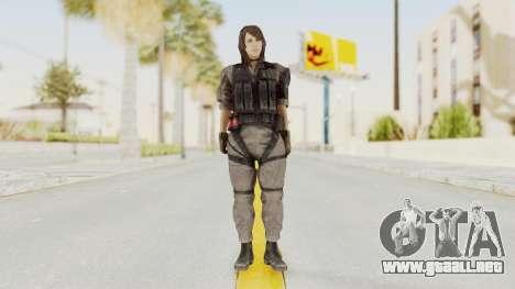 MGSV Phantom Pain Quiet XOF v2 para GTA San Andreas segunda pantalla