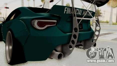Scion FRS Rocket Bunny Killagram v1.0 para GTA San Andreas interior