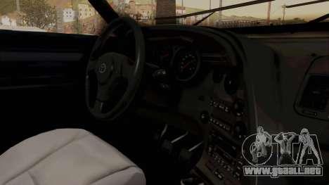 Jester Supra para visión interna GTA San Andreas