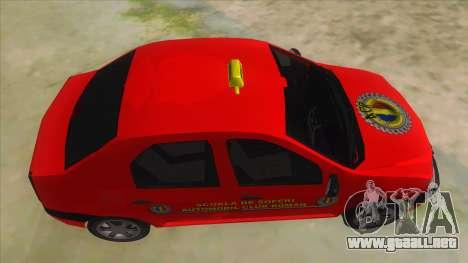 Dacia Logan Scoala para visión interna GTA San Andreas