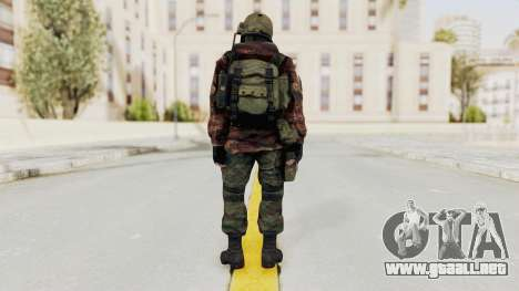 Battery Online Russian Soldier 10 v2 para GTA San Andreas tercera pantalla