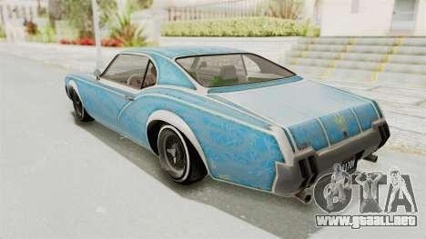 GTA 5 Declasse Sabre GT2 B para las ruedas de GTA San Andreas