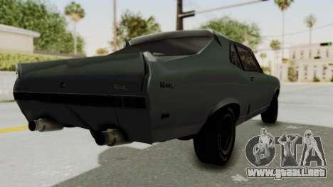 Chevrolet Nova 1969 StreetStyle para GTA San Andreas vista posterior izquierda