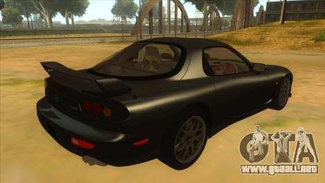 Mazda RX7 S Spirit R para la visión correcta GTA San Andreas