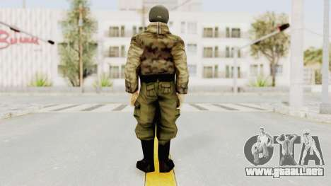 Russian Solider 3 from Freedom Fighters para GTA San Andreas tercera pantalla