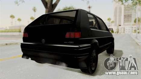 Volkswagen Golf 2 Tuning para GTA San Andreas vista posterior izquierda