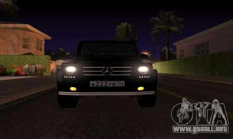 Mercedes G55 Kompressor para la visión correcta GTA San Andreas