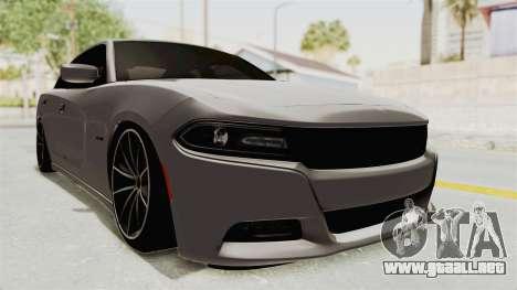 Dodge Charger RT 2015 para GTA San Andreas vista posterior izquierda