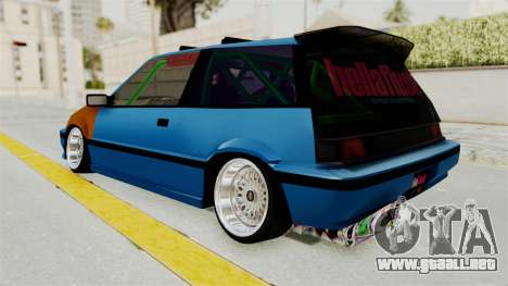 Honda Civic EF9 HellaFlush para GTA San Andreas left