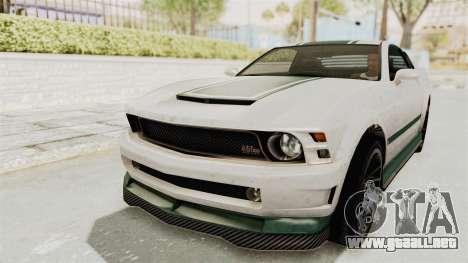 GTA 5 Vapid Dominator v2 SA Style para la vista superior GTA San Andreas
