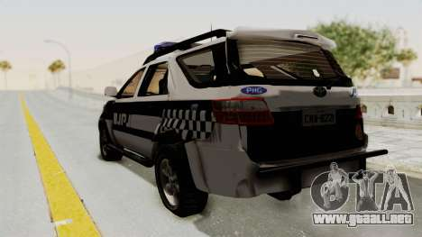 Toyota Fortuner JPJ White para GTA San Andreas left
