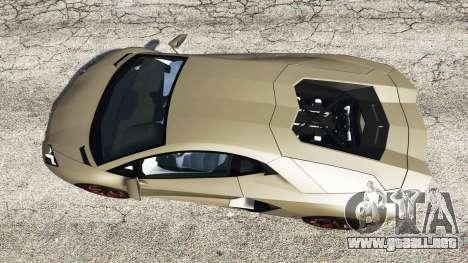 GTA 5 Lamborghini Aventador LP700-4 2012 v1.2 vista trasera