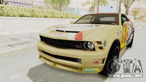 GTA 5 Vapid Dominator v2 SA Style para visión interna GTA San Andreas