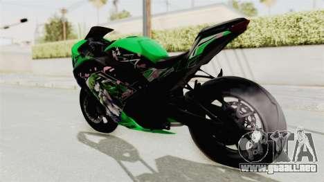 Kawasaki Ninja 250FI Kochiya Sanae Itasha para GTA San Andreas left